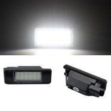2x LED License Plate Light for Peugeot 106/207/307/308/406/407/508 Citroen C3-C6