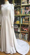 VINTAGE 70s BELINDA BELLVIEW VOGUE WEDDING DRESS SIZE 10 BIBA ERA BOHO GLAM ROCK
