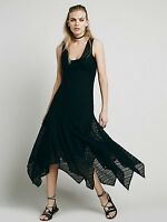 Free People Intimately  Love Sheer Lace Lila Black Dress S