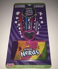 Rainbow Nerds Fun Dip Laffy Taffy Flavored Lip Gloss Set Bag Mirror 6 Piece