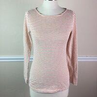 J Crew Womens Top Artist T Cotton Metallic Stripe Long Sleeve Size S