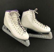 Riedell Model 113 Sparkle ladies Violet/White Soft Ice Skates Size 5
