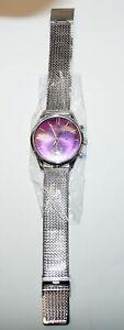 LANCESTER Uhr MLP003 - Damenuhr - Ladies Watch - Silber Lila - Chronograph