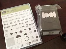 NEW Stampin UP! Tabs for Everything Stamp Set & Circle Tab Punch Bundle