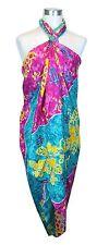 Jumbo Plus Size Tropical Cruise Beach Luau Sarong Wrap Dress Golden Turtle Turqo
