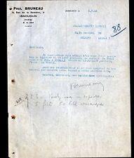 "ISSOUDUN (36) EPICERIE ""Paul BRUNEAU"" en 1933"