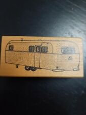 Rare! Vintage Ken Brown Camper Van Trailer Rv Rubber Stamp Scrapbooking Crafts
