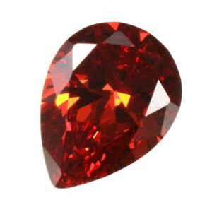 12.35CT Unheated Orange Red Pear Cut Dianond Drop Loose Gemstones Gift 12X16mm