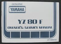 1980 YAMAHA 80 YZ80F YZ80 DIRT BIKE MOTORCYCLE OWNERS SERVICE MANUAL REAL NICE
