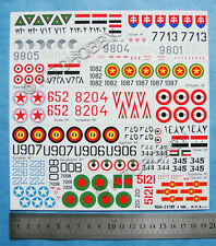RV Aircraft 1/48 Mikoyan MiG-21 Fishbed Decal Part1