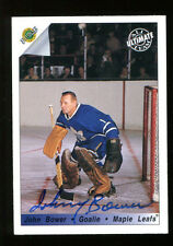 John Bower Signed 1992 Ultimate Card Autographed Maple Leafs 22687