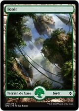 MTG Magic BFZ FOIL - Forest/Forêt, #271, Full Art, French/VF