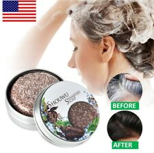 Hair Darkening Shampoo Soap Organic Grey Reverse Shampoo Bar Essence【 US STOCK 】