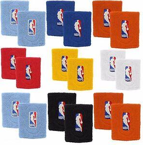 Basketball NBA Logo Wristbands - Multiple Colors Blue Red Orange White Light