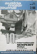 Austria Motor Journal 2/66 Semperit Rallye Rupert Hollaus BMW 2000 Neue Klasse
