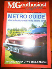 MG Enthusiast Dec/Jan 1987 MG Metro, L Type Magna