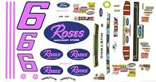 #6 Max Razo Roses 2013 Mustang 1/32nd Scale Slot Car Watreslide Decals