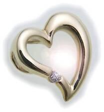 Colgante Corazón Circonia PULIDO 333 Oro Amarillo Oro Mujer