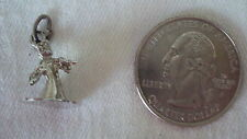 Vintage  Sterling Silver  Graduation Girl with Cap Pendant Charm