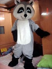 Professional New Grey Raccoon Racoon Mascot Costume Fancy Dress Adult Size