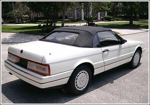 NEW Cadillac allante Convertible Soft Top HAARTZ Vinyl 1987-1993