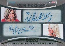 Velvet Sky Angelina Love 2012 TNA Reflexxions Auto graph Dual Signature #1/5