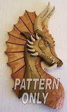 Intarsia wood pattern; DRAGON W/EAR (Original)