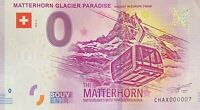 BILLET 0  EURO MATTERHORN GLACIER PARADISE SUISSE  2019 NUMERO 007