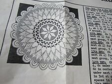 2 ANTIQUE VINTAGE crochet patterns Spinning Wheel &  blue ribbon doily doilies