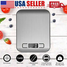 Food Digital Kitchen Weight Scale Grams & Ounces, Small, Backlit Stainless Steel