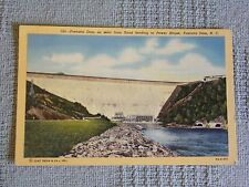 Vintage Postcard Fontana Dam From Road Leading To Power House, Fontana Dam, N.C.