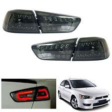 LED Smoked Tail Lamp Light Fit Mitsubishi Evolution 10 EVO X Lancer EX 08-15 #