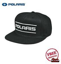 POLARIS DASH SNAPBACK HAT CAP BASEBALL RZR RMK SPORTSMAN ACE BLACK WHITE NEW
