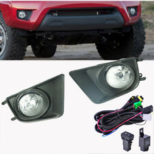 For Toyota Tacoma 12-15 Front Bumper Fog Light Black Cover Switch Harness