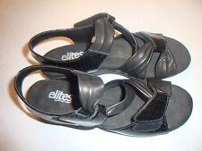 ELITES by WALKING CRADLE Black Patent Leather Slingback Sandal SZ 7N~