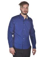 Camicia Burberry Shirt CAMBRIDGE Cotone Uomo Blu 4068104