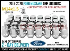 Chrome 2015-2020 Ford Mustang GT Shelby GT 350 OEM Lug Nuts Factory Style
