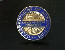 Vintage Enamel US Department of Agriculture Farmer Elected Committee Pin