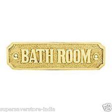 Bathroom Door Sign,SOLID BRASS PLAQUE for BATHROOM SIZE 110.80 mm x 32.50 mm