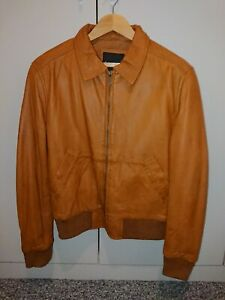 Rochas Paris Leather A2 Flight Jacket