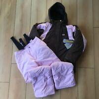 Girl's Ski Jacket Salopettes Winter Five Seasons Winter Warm Snow Suit Hood New
