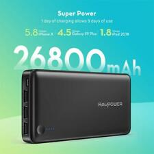 Power Banks RAVPower Portable Charger 26800mAh 3-Port 5.5A iSmart Output USB
