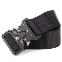 Men Tactical Belt Military Training Waist Strap Quick Release Nylon Waistband