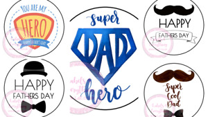 Happy Fathers Day Stickers Gift Box Sweet Cones Sweet Hamper Gift Bag Party