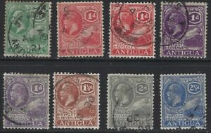 ANTIGUA 1921/29 KG5 Values to 2½d (8) Used