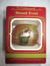 Vintage 1983 Goebel Mj Hummel Blessed Event Glass Christmas Ornament Ball NewBox