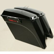 Extended Saddlebags Trunk Fit For Harley Davidson Touring Road King Glide 93-13