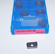 (10) LOGU030310ER-GM PR1535 KYOCERA MILLING INSERTS FOR MFH MINI CUTTER
