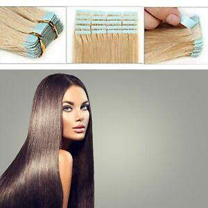Straight Tape In Advanced fashion Deluxe 100% Remy Human Hair Extension UK