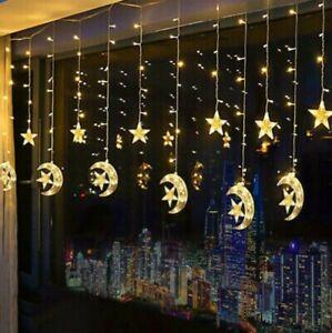 Ramadan Dekorationen LED Lichtervorhang Lichterkette Licht Fenster Deko Party